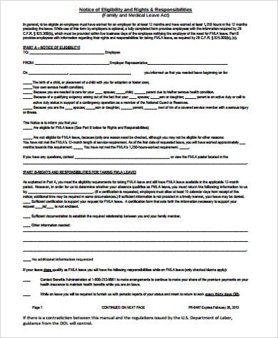 Sample Family Medical Leave Act Form - 8+ Examples In Word, Pdf