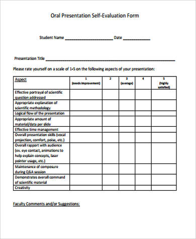 Sample Self Evaluation Form   Examples In Word Pdf