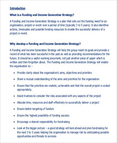strategic fundraising plan