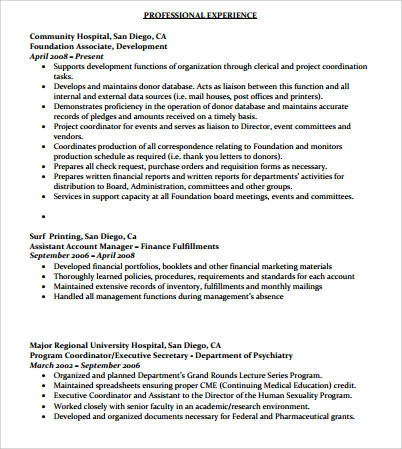 Sample Senior Executive Resume  8 Examples in PDF