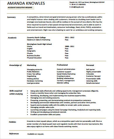 sample resume for executive assistant to senior executive - 8 sample senior executive resumes sample templates