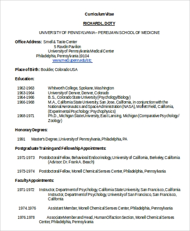 professional medical resume in word