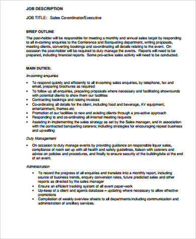Retail Sales Job Description Sample   Examples In Word Pdf