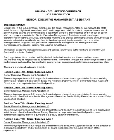 6 sample senior executive assistant resumes sample for Sample resume for executive assistant to senior executive
