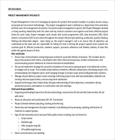 property management specialist job description in pdf