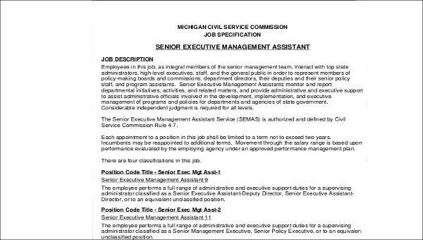 6 Sample Senior Executive Assistant Resumes Sample