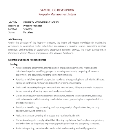 property management responsibilities