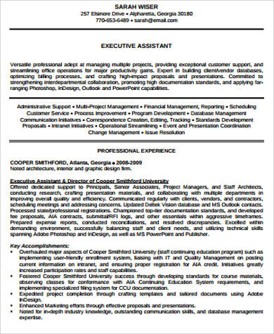 Sample Executive Director Resume   Examples In Pdf