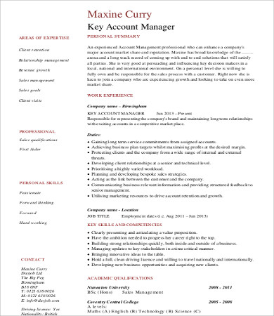 account manager executive resume1