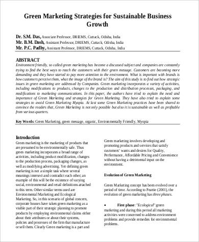 green marketing strategies objective