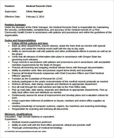 medical office manager job description sample 6 examples in word pdf