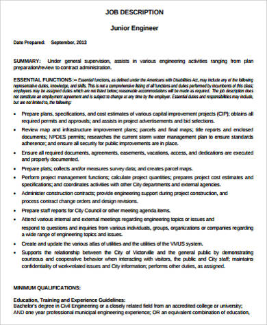 Computer Engineer Job Description Sample - 9+ Examples In Word, Pdf