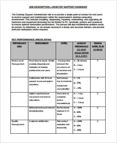 computer support engineer job description