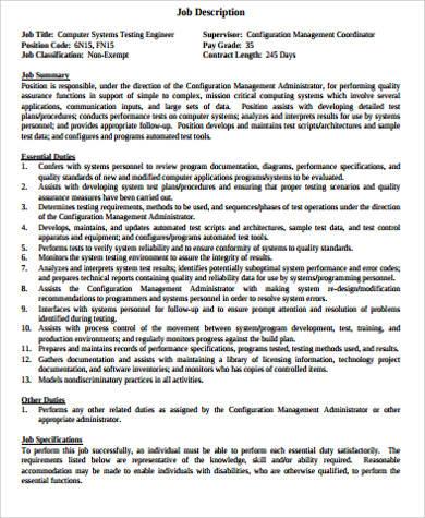 computer testing engineer job description