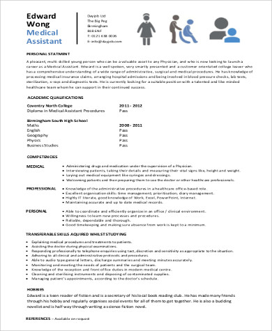 6+ Sample Entry-Level Medical Resumes | Sample Templates