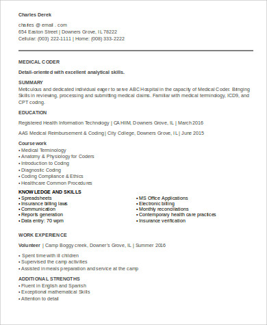 medical billing resume occupational examples samples free edit with