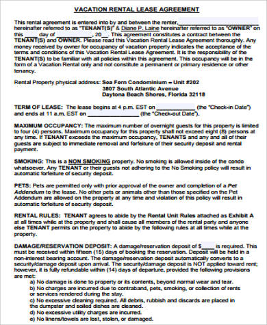 printable rental lease agreement pdf