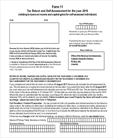 Sample Printable Tax Form - 9+ Examples In Word, Pdf