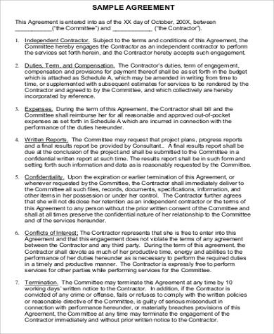 Sample Business Agreement Between Two Parties 7 Examples In Word Pdf