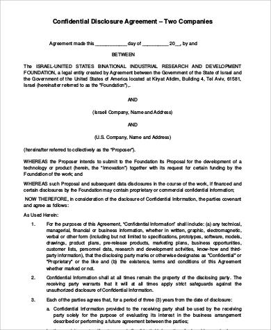 7 Sample Business Agreements Between Two Parties Sample Templates