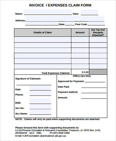 Sample Invoice Form 10 Examples In Pdf