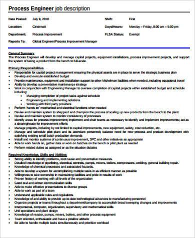 process engineer job description