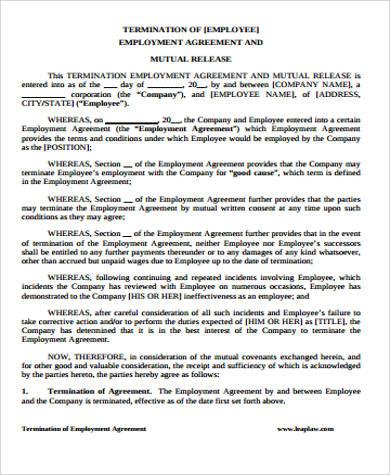 termination of employment agreement