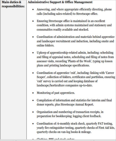 8 office intern job description samples sample templates - Office administration executive job description ...