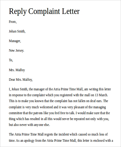 Reply letter to customer complaint template oukasfo tagsreply letter to customer complaint templatecustomer complaint letter template samplewordscomcustomer complaint response letter template complaint spiritdancerdesigns Image collections