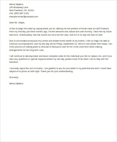 Captivating Email Resignation Letter New Job
