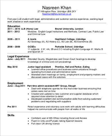 Free 7 Sample Lawyer Resume Templates In Ms Word Pdf