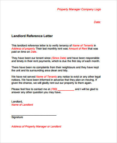 Sample letter of reference 11 examples in word pdf landlord letter of reference yadclub