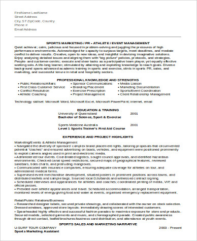sample marketing assistant resume 8 examples in word pdf