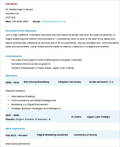 digital marketing assistant resume sample marketing assistant resume