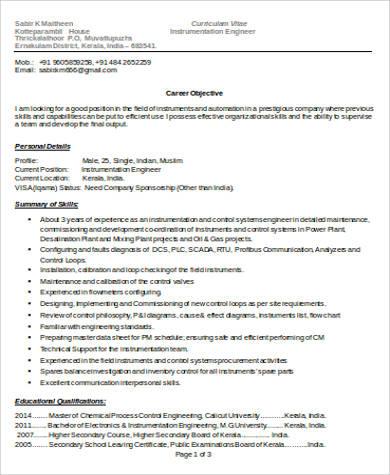 engineer word resume