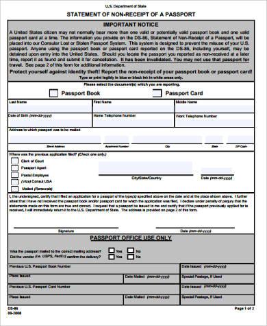non receipt of passport pdf