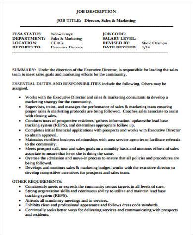 director of sales and marketing job description1