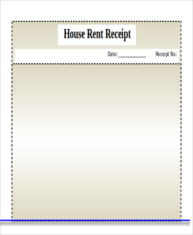 Blank House Rent Receipt Format  Hra Rent Receipt Format