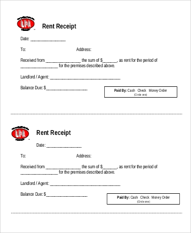 7+ Rent Receipt Format Samples | Sample Templates