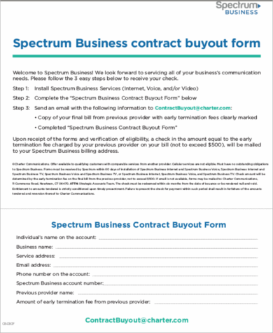 Sample Business Buyout Agreement 6 Examples In Word Pdf
