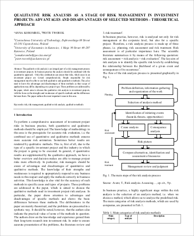 quantitative risk analysis process