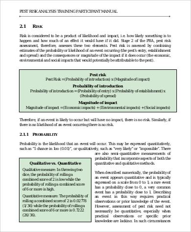 quantitative pest risk analysis to download