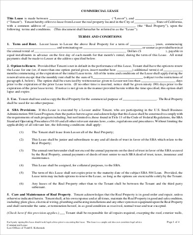 commercial lease rental agreement2