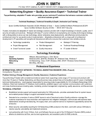 Sample Network Engineer Resume - 9+ Examples in Word, PDF