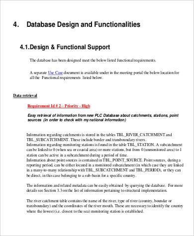 functional design document