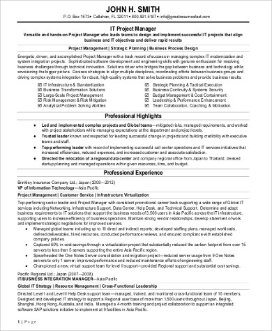 sample technical project manager resume technical project manager resume pdf sample templates biotech expert