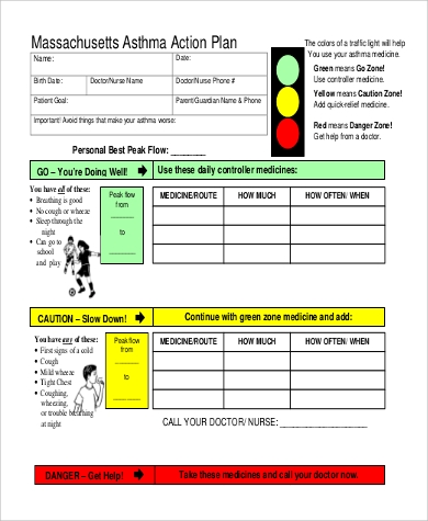 Sample Asthma Action Plan - 9+ Examples In Pdf, Word
