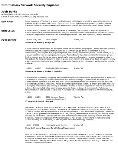 best network security engineer resume network security 9
