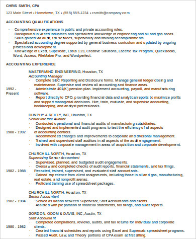 9+ Sample Staff Accountant Resumes | Sample Templates