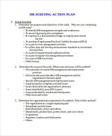 hr auditing action plan